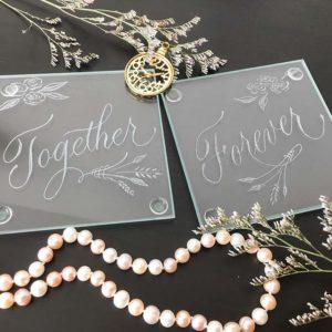 Toronto live engraving luxury event - Engraved Coaster