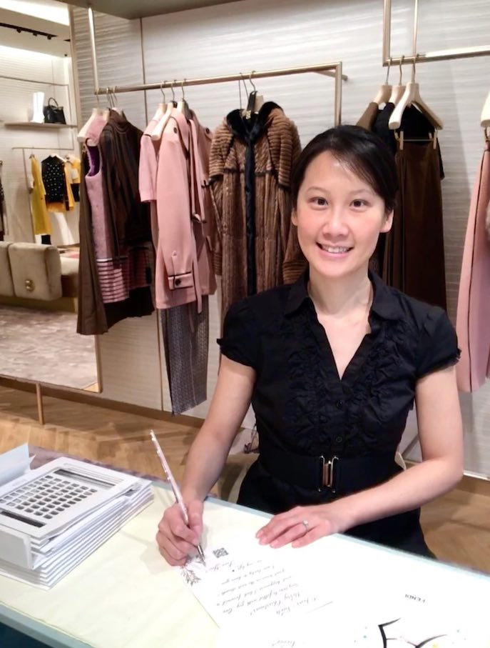 calligraphy live event with Fendi